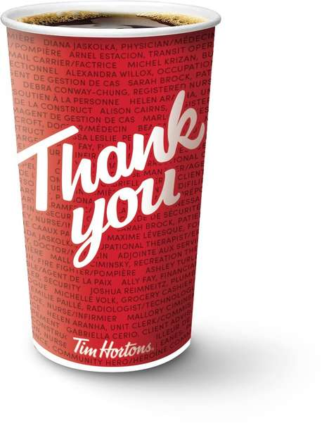 Thankful Coffee Cups : Tim Hortons Hero Cups