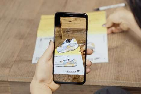 AR Sneaker-Coloring Zines : create with air max