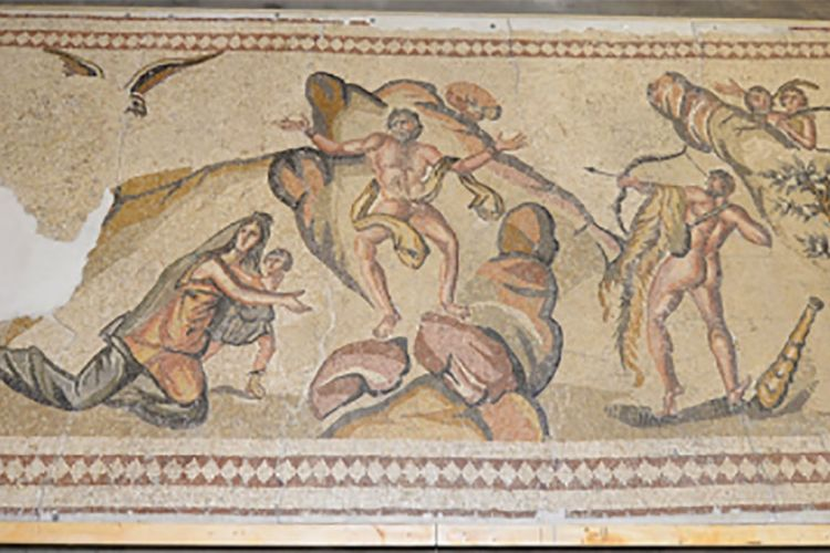 California man is charged with illegally importing an ancient mosaic, possibly from Syria