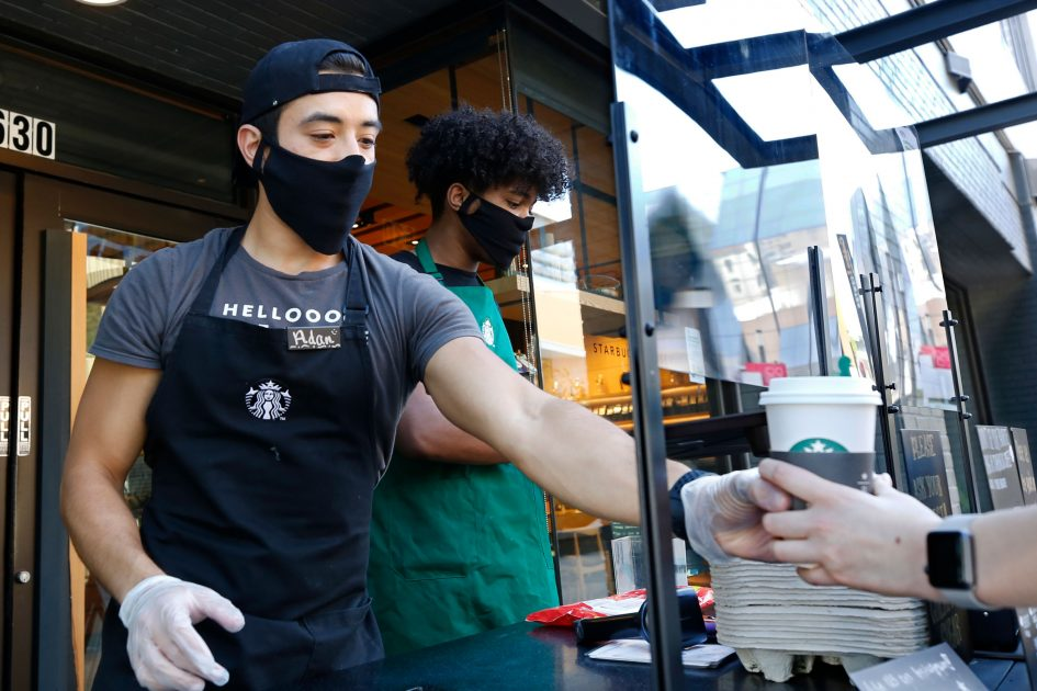 Starbucks will require customers wear facial coverings