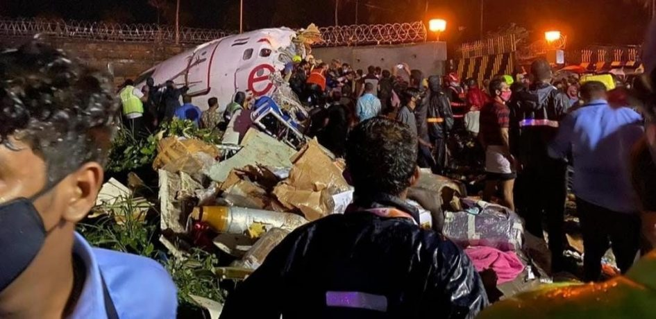 Air India Express plane crash lands in southern India, at least 16 people killed