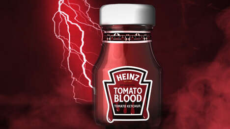 Spooky Rebranded Condiments : Heinz Tomato Blood Ketchup