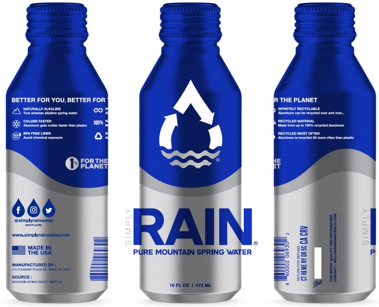 Recyclable Aluminum Water Packaging