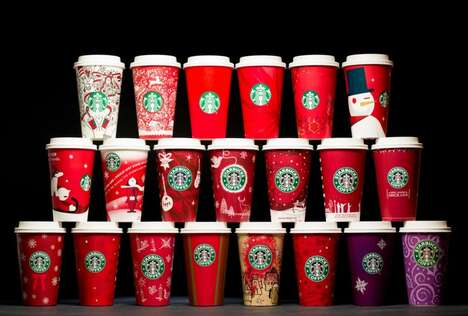 Holiday To-Go Cup Designs : Starbucks' holiday to-go cups