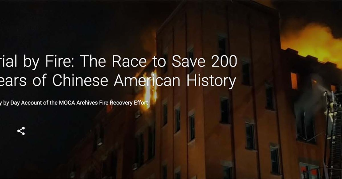 A year after fire, Museum of Chinese in America launches digital platform with Google to celebrate its historical treasures