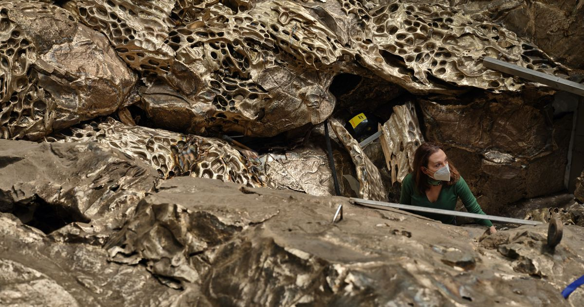 Awash with art—Cristina Iglesias fills island lighthouse with bronze geological formations