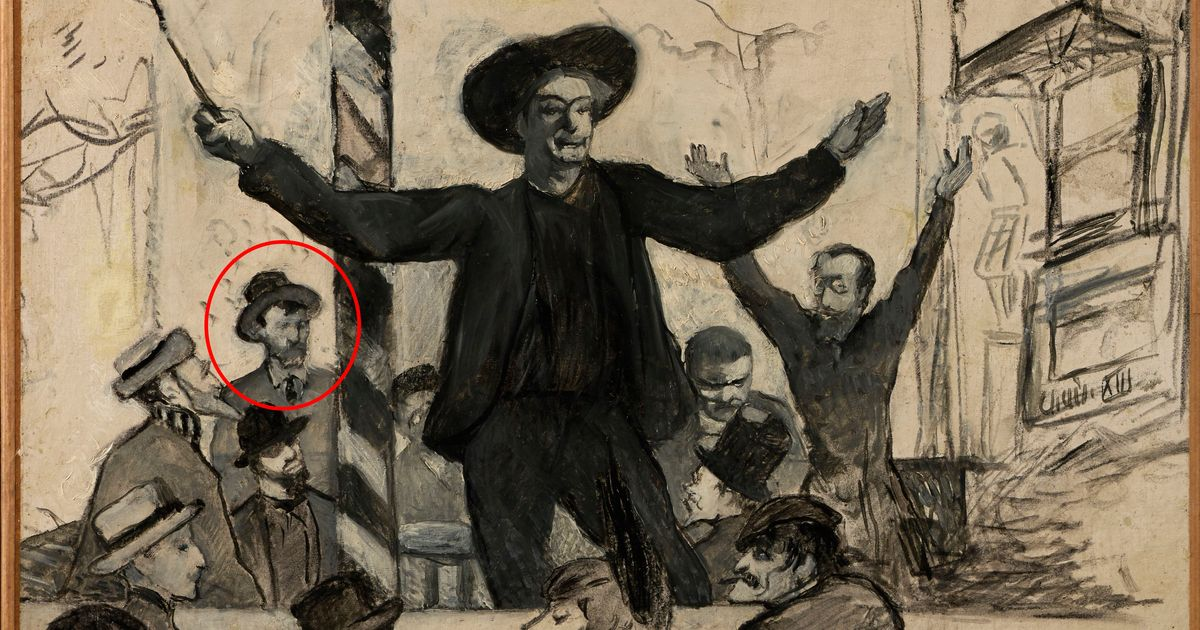 Is Van Gogh hiding at the back of this Toulouse-Lautrec drawing?