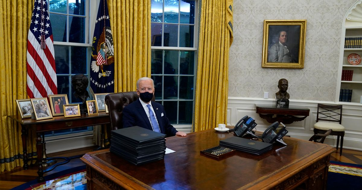 The art in Biden's Oval Office reflects hope for a less divided America