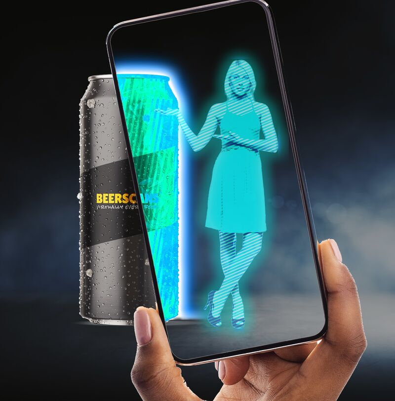 Augmented Reality Beer Cans