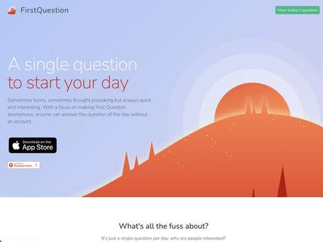 Anonymous Question-Posing Apps