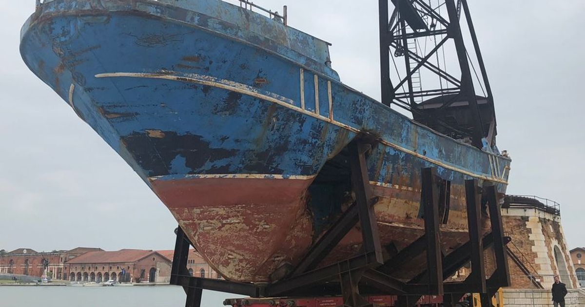 Christoph Büchel's controversial migrant boat finally returns to Sicily after 2019 Venice Biennale display