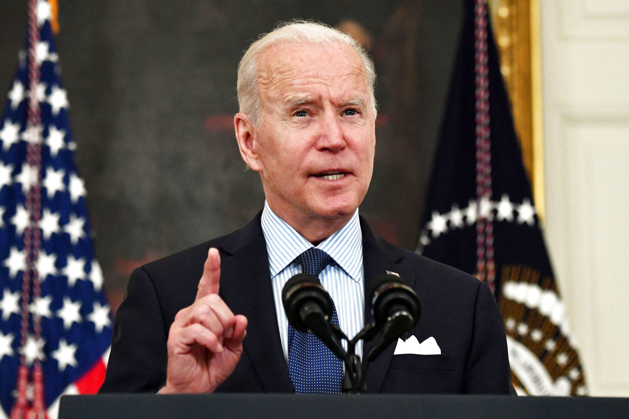 Biden's new Covid vaccination goal is for 70% of adults to have at least one shot by July 4