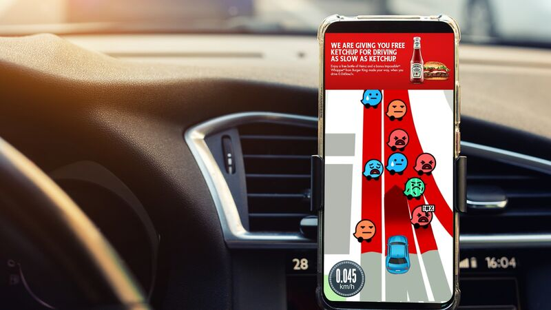 Traffic-Activated Ketchup Ads