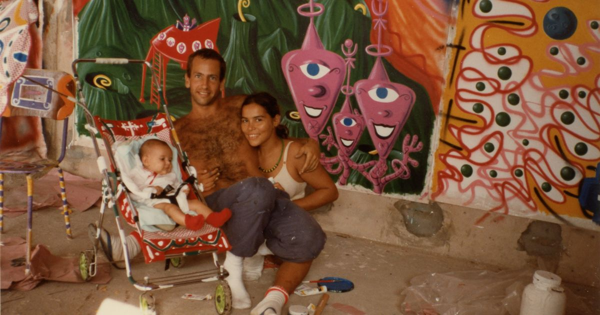 Now 62, but still wielding spray paint, Kenny Scharf is filmed by his daughter