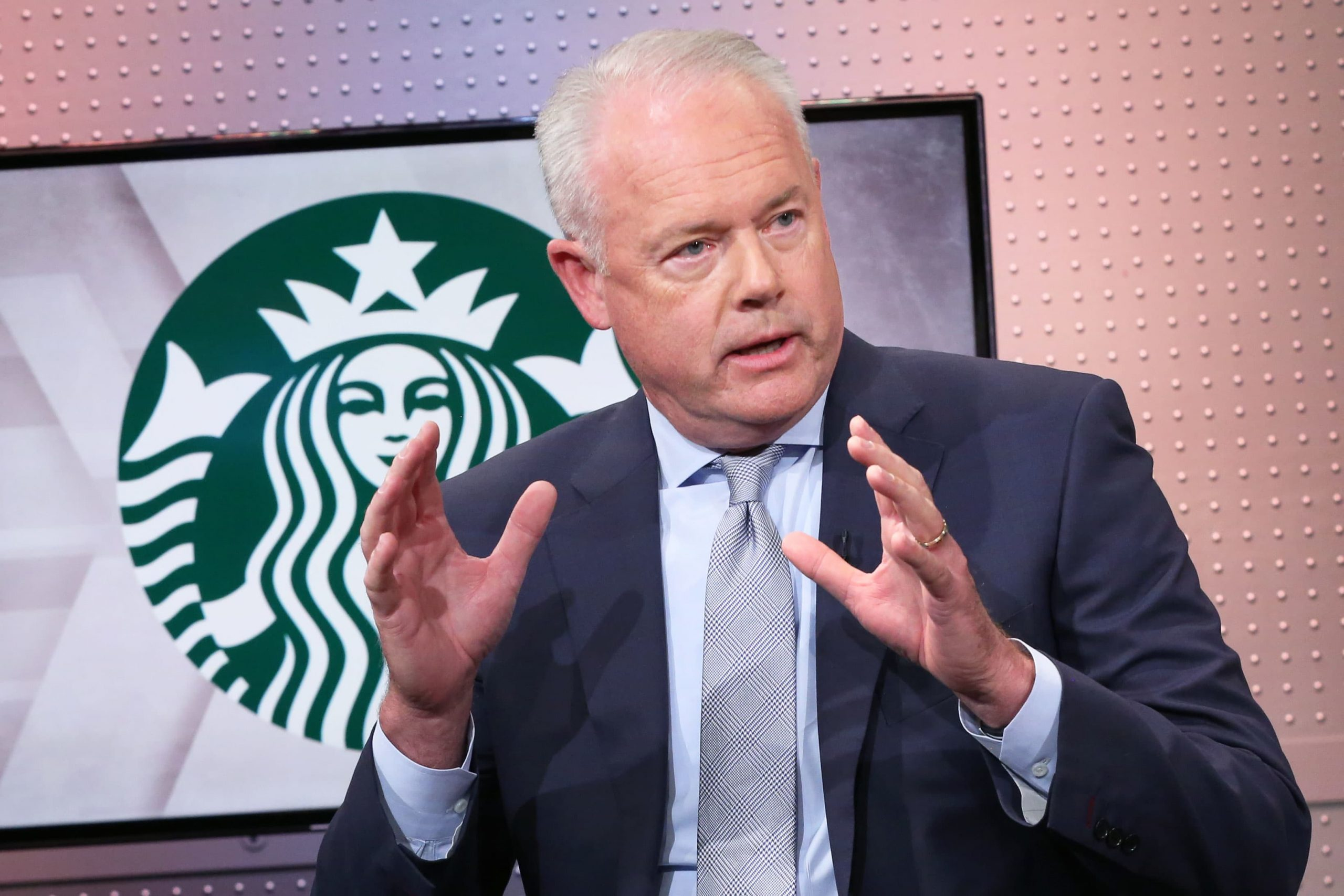 Starbucks CEO says business is rebounding in markets where vaccinations are up
