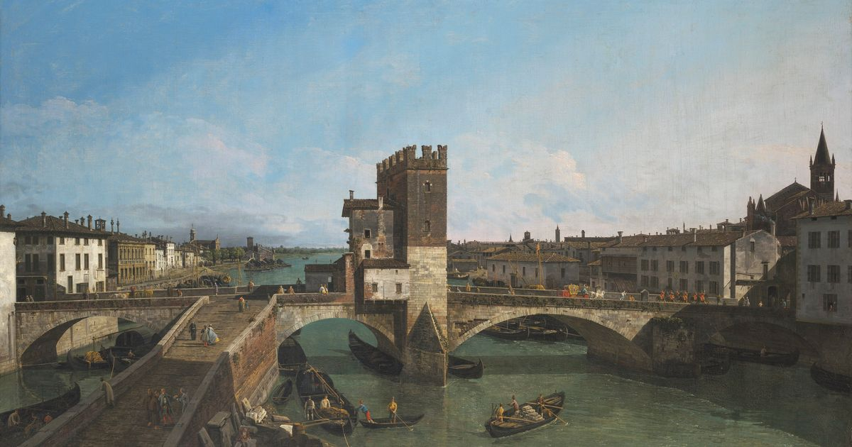 Bellotto's view of Verona sells for record £10.5m at Christie's Old Master sale in London