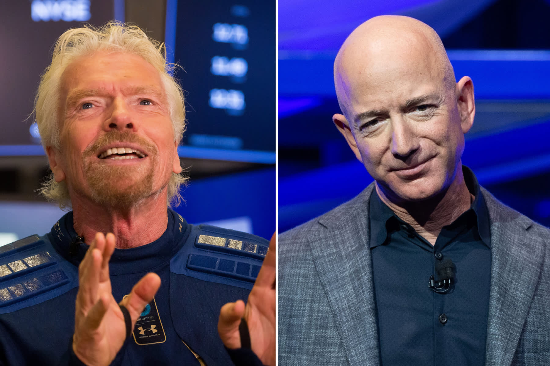 Billionaires fight over what is actual outer space as Branson gets set to launch before Bezos