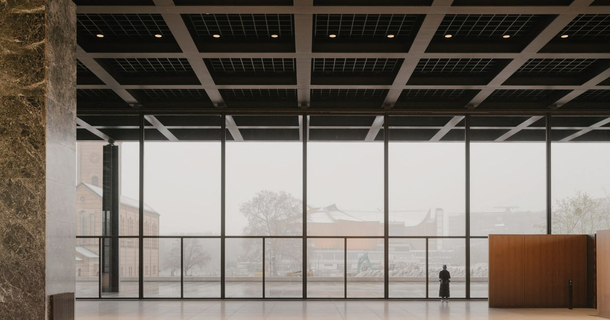 Mies van der Rohe's landmark Neue Nationalgalerie in Berlin ready for reopening after 'surgery' by David Chipperfield